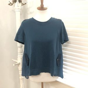 anthropologie moth blue high low tunic